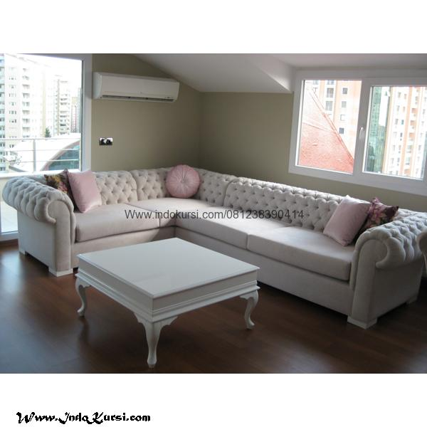 Kursi Tamu Sofa Sudut Cat Putih Duco 038 Indo Mebel
