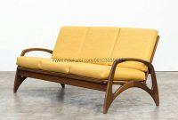Bangkus Sofa Tanganan Lengkung Jok Bantalan, Jual Bangku Sofa Mewah Modern Minimalis