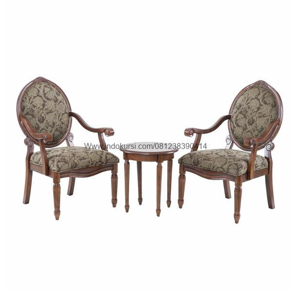 Kursi Sofa Teras Romawi Kayu Jati Solid