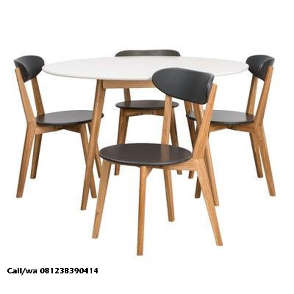 Set Kursi Makan Top Meja Putih