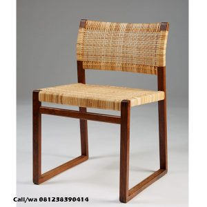 Kursi Cafe Minimalis Rotan Sandaran Lengkung, indo kursi, indo jati, berkah jati, lemari pajangan jepara