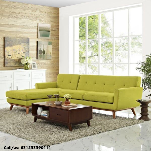 Kursi Tamu Sofa Sudut Modern Apartemen, indo kursi, indo jati