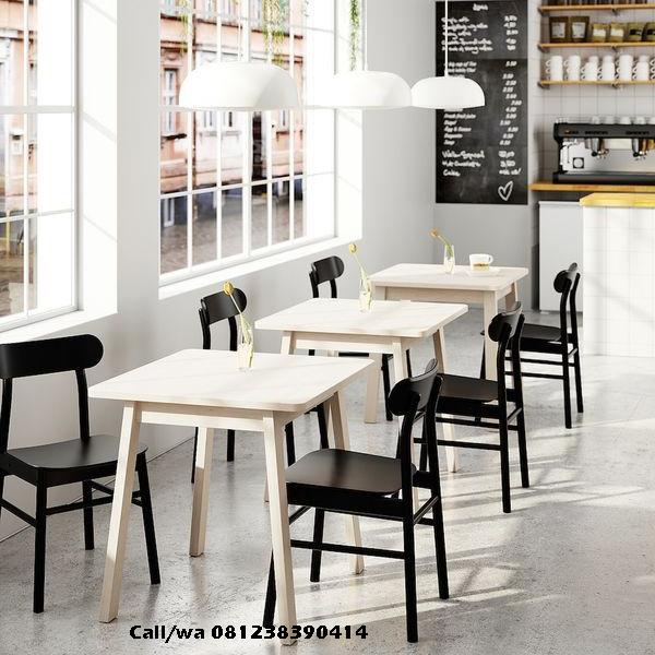 Set Kursi Cafe Minimalis Finishing Duco, indo kursi, indo jati, berkah jati, lemari pajangan jepara