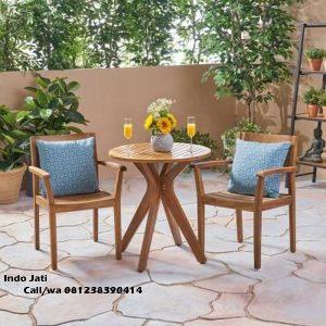 Set Kursi Cafe Minimalis Jati Simple, indo kursi, indo jati, lemari pajangan jepara, berkah jati
