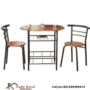 Set kursi Cafe Industiral Besi Kayu, indo kursi, indo jati, berkah jati, lemari pajangan jepara