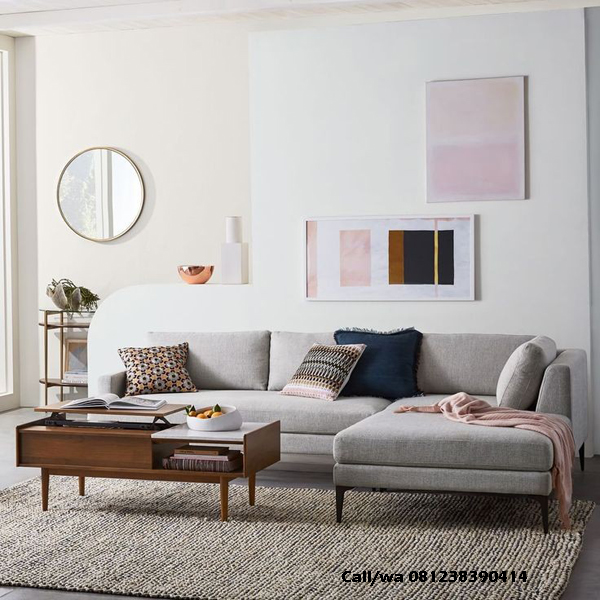 Kursi Tamu Sofa Sudut Modern, indo kursi, indo jati, berkah jati, lemari pajangan jepara