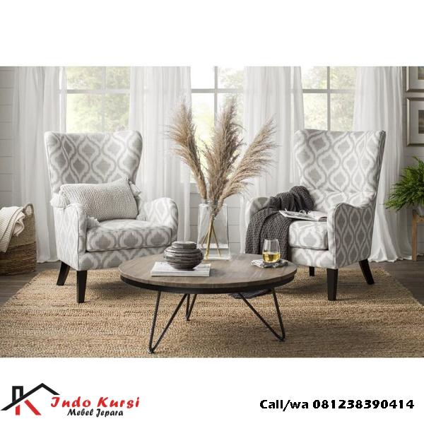 Set Kursi Sofa Teras Jok Motif