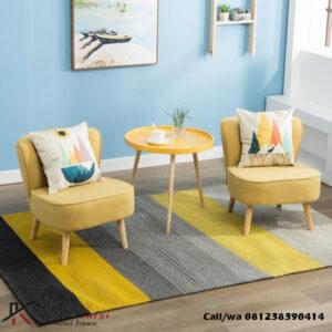 Set Kursi Sofa Teras Kuning