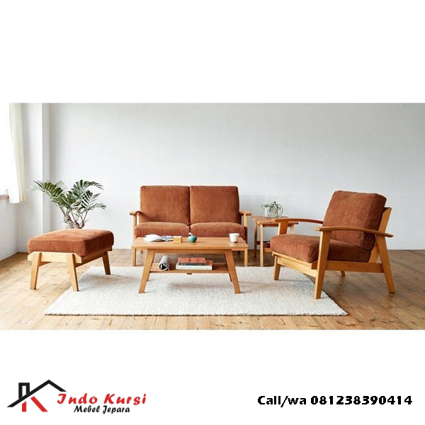 Kursi Tamu Sofa Minimalis Jati