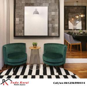 Set Kursi Sofa Bundar Mewah