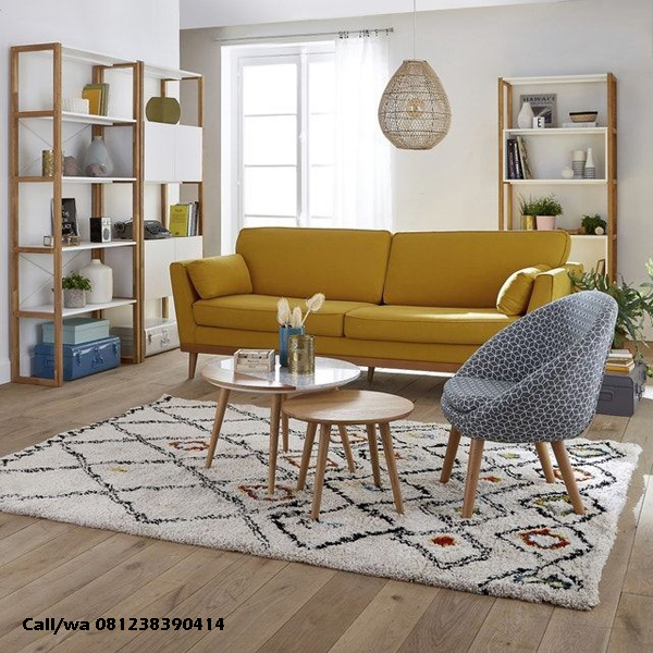 Set Kursi Tamu Sofa Retro
