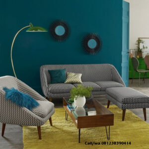 Set Sofa Retro Modern