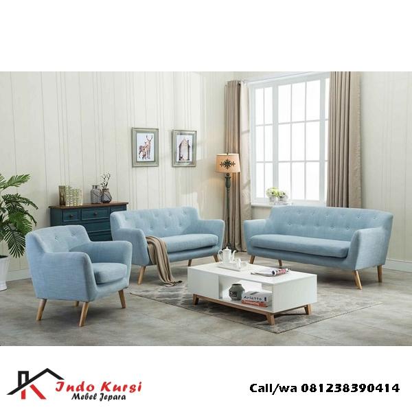 Set Sofa Retro Warna Jok Imut
