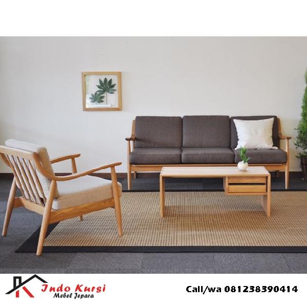 Set Sofa Scandinavian Jati Solid