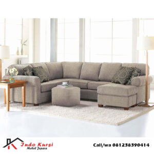 Sofa Sudut Jok Fabric Vienna