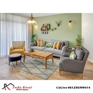 Sofa Tamu Keluarga Bahan Jati