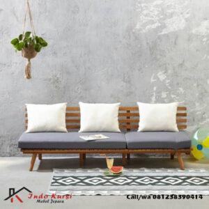 Bangku Sofa Minimalis Kayu Jati