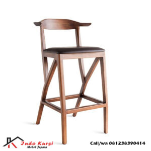 Kursi Bar Jati Solid Model Modern