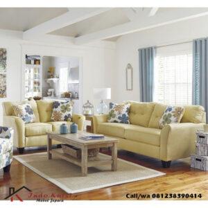 Set Kursi Tamu Sofa Jok Kuning