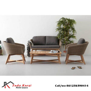 Set Kursi Tamu Sofa Mix Rottan
