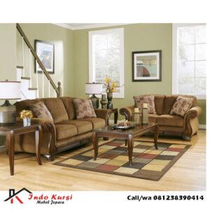 Set Kursi Tamu Sofa Model Elegant