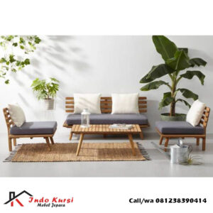 Set Kursi Tamu Sofa Retro Jati