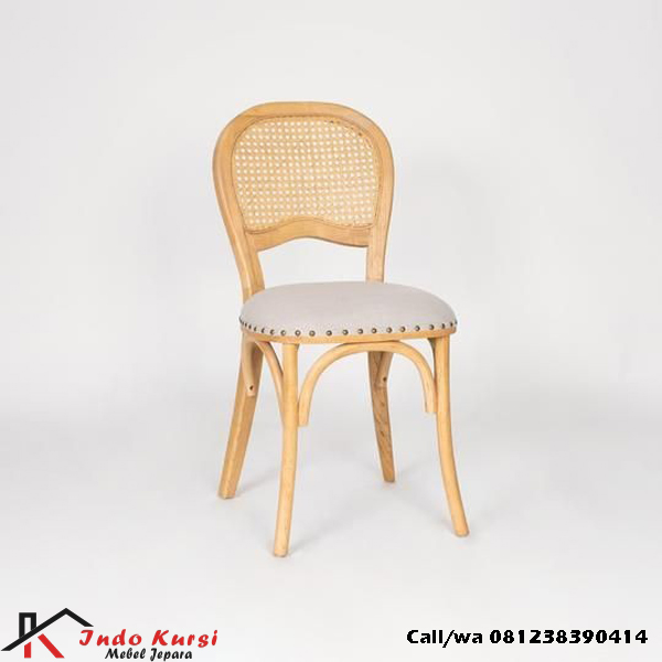Kursi Cafe Natural Jati Rottan