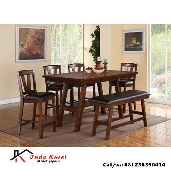 Set Meja Makan Dudukan Tinggi