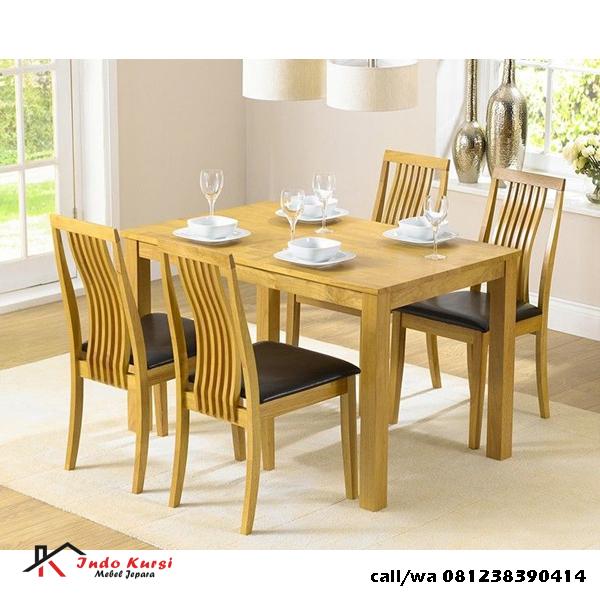 Meja Makan Minimalis Sandaran Lengkung