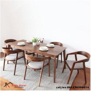 Meja Makan Panjang Kursi Lengkung