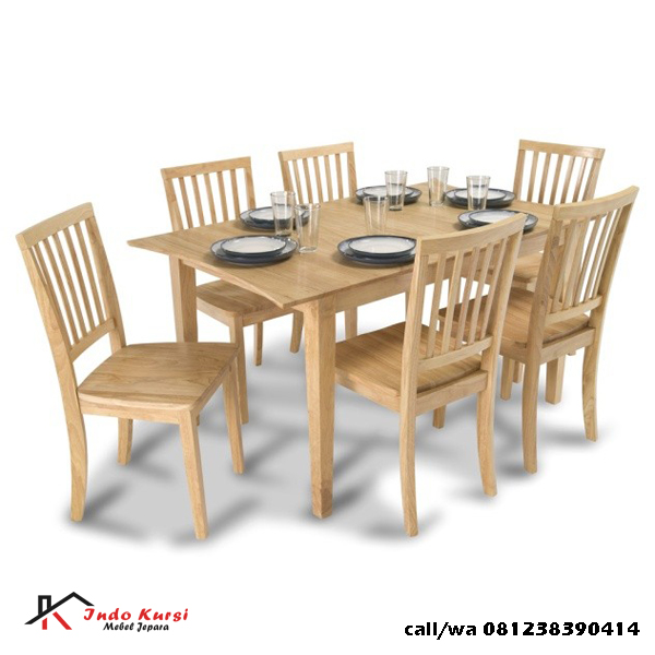 Set Kursi Makan Minimalis Kayu Jati